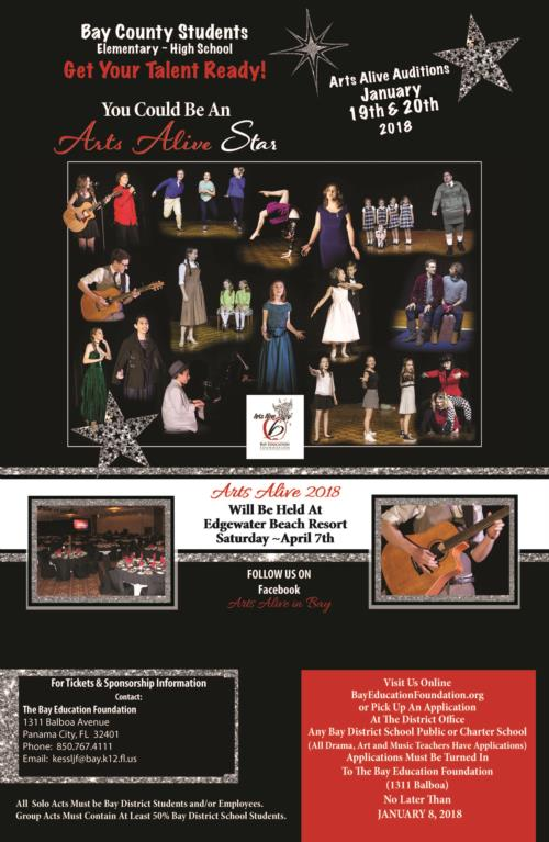 Events: Arts Alive Auditions